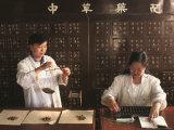Weighing Herbal Medicine, Beijing, China Photographic Print by Keren Su