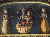 Hindu gods Vishnu and Laxmi in Half Moon Palace, India Photographic Print by John & Lisa Merrill