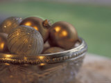Christmas Ornaments in Crystal Bowl Photographic Print by Michele Westmorland