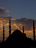 Blue Mosque at Night, Istanbul, Turkey Photographic Print by Keren Su