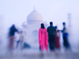 Pink Sari, Taj Mahal, India Photographic Print by Walter Bibikow