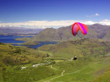 Paraglider, South Island, New Zealand Photographic Print by David Wall