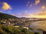 Sunset View of Marigot from Ft Louis, St. Martin, Caribbean Photographic Print by Walter Bibikow