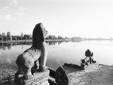 Sras Srang Royal Reservoir, Angkor, Cambodia Photographic Print by Walter Bibikow
