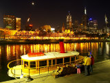 Riverboat on Yarra River, Flinders Street Station and CBD, Melbourne, Victoria, Australia Photographic Print by David Wall