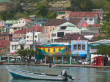 Shops, Restaurants and Wharf Road, The Carenage, Grenada, Caribbean Photographic Print by Walter Bibikow