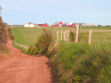 Country Road and Farm, Prince Edward Island, Canada Photographic Print by Julie Eggers