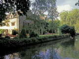 Lower Slaughter, Washbourne Court Hotel, Gloucestershire, England Photographic Print by Nik Wheeler