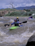 Kayaking 'Tin Cup' Rapid in Arkansas River, Colorado, USA Photographic Print by Lee Kopfler