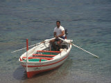Boat Tours at Mazzaro Beach, Taormina, Sicily, Italy Photographic Print by Connie Ricca