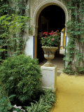 Planter and Arched Entrance to Garden in Casa de Pilatos Palace, Sevilla, Spain Photographic Print by John & Lisa Merrill