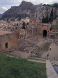 Greek Theater in Taormina, Sicily, Italy Photographic Print by Connie Ricca