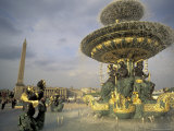 Place de la Concorde and Obelisque, Paris, France Photographic Print by David Barnes