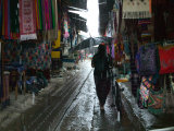 Street Lined with Souvenir Shops, Antigua, Guatemala Photographic Print by Keren Su