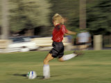Playing Soccer, Santa Fe, New Mexico, USA Photographic Print by Lee Kopfler