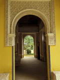 Carved Plaster above Arch in Casa de Pilatos Palace, Sevilla, Spain Photographic Print by John & Lisa Merrill