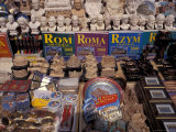 Souvenirs Sold on the Street, Rome, Italy Photographic Print by Connie Ricca