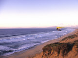 Hang Gliding off Beach in Monterey, California, USA Photographic Print by Georgienne Bradley