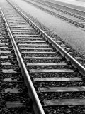 Train Tracks, Zurich, Switzerland Photographic Print by Walter Bibikow