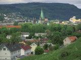 Town View from Kristiansten Festung Fortress, Trondheim, Norway Photographic Print by Walter Bibikow