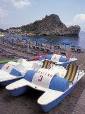 Mazzaro Beach, Taormina, Sicily, Italy Photographic Print by Connie Ricca