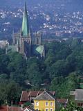 Nidaros Cathedral, Trondheim, Norway Photographic Print by Walter Bibikow