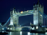 Evening View of The Tower Bridge, London, England Photographic Print by Walter Bibikow