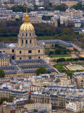 View of Hotel des Invalides from Eiffel Tower, Paris, France Photographic Print by Lisa S. Engelbrecht