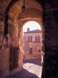 Inside the Walls of Cordes-sur-Ciel, Languedoc, France Photographic Print by Nik Wheeler