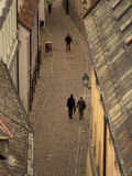 Old Town Street from Michael Tower, Bratislava, Slovakia Photographic Print by Walter Bibikow