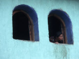 Woman Looking Out of Window, Chichicastenango, Guatemala Photographic Print by Judith Haden