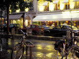 Evening Street Scene with Bicycles, Paris, France Photographic Print by Michele Molinari