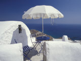 Terrace Overlooking Aegean Sea, Anafi, Cyclades Islands, Greece Photographic Print by Michele Molinari