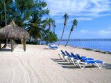 Beach Huts and Chairs, Florida Keys, Florida, USA Photographic Print by Terry Eggers