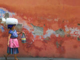 Woman Carrying Sack, Antigua, Guatemala Photographic Print by Keren Su