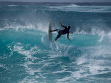 Surfer on Oahu, Hawaii, USA Photographic Print by Lee Kopfler