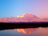 Mt. McKinley at Sunrise with Reflections, Denali National Park, Alaska, USA Photographic Print by Terry Eggers