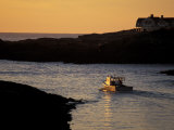 Fishing Boat in the Cove at Sunrise, Maine, USA Photographic Print by Jerry & Marcy Monkman