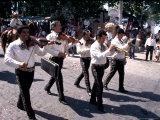 Parade along Main Street, City Center, Puerto Vallarta, Mexico Photographic Print by Terry Eggers