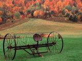 Charles Sleicher - Farm Scene, Vermont, USA Fotografická reprodukce