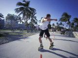 Ocean Drive and Lummus Park, South Beach, Miami, Florida, USA Photographic Print by Robin Hill