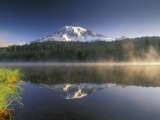 Mt. Rainier Reflecting in Lake, Mt. Rainier National Park, Washington, USA Photographic Print by Gavriel Jecan