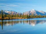 Lake and Mountains along Denali Highway, Autumn, Alaska, USA Photographic Print by Terry Eggers