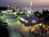 Night Scenic, San Miguel, Cozumel Island, Quintana Roo, Mexico Photographic Print by Robin Hill