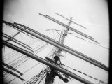 Masts of Tall Ship, Boston, Massachusetts, USA Photographic Print by Walter Bibikow