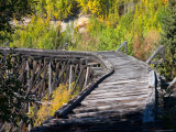 Remnants of the CR and NW Trestle Along the McCarthy Road, Alaska, USA Photographic Print by Julie Eggers