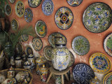 Talavera Pottery on Display, Puerto Vallarta, Mexico Photographic Print by John & Lisa Merrill