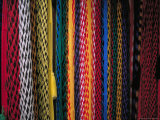 Colorful Hammocks at the Market, Oaxaca, Mexico Photographic Print by Judith Haden