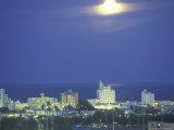 Moon over Miami Beach, Florida, USA Fotografie-Druck von Robin Hill
