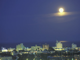 Moon over South Beach, Miami, Florida, USA Photographic Print by Robin Hill